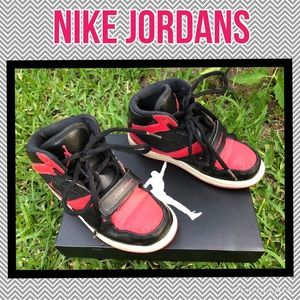 Red & black Jordan's 1 Flight